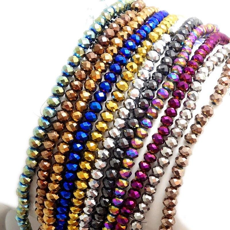 STENYA 4*3mm cristal tchèque perles Rondelle pierre perles bijoux à bricoler soi-même résultats entretoise boucle d'oreille bracelet à breloques collier accessoires
