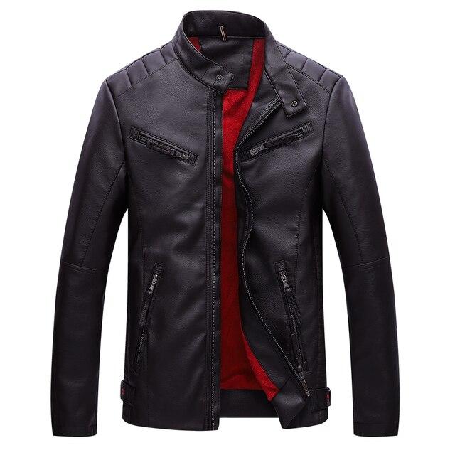 BOLUBAO veste en cuir hommes polaire doublé épais chaud Faux cuir hiver vestes hommes moto pour homme Bomber vestes manteau