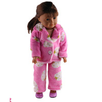 New Arrival 2016 Fashion Purple Winter Suit For 18 Inch American Girl Doll Clothes Only Doll