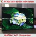Bom preço 2016 P4 tela led indoor SMD full color, 1RGB, 16 de digitalização, 62500 dots/m2, chips Epistar 2121