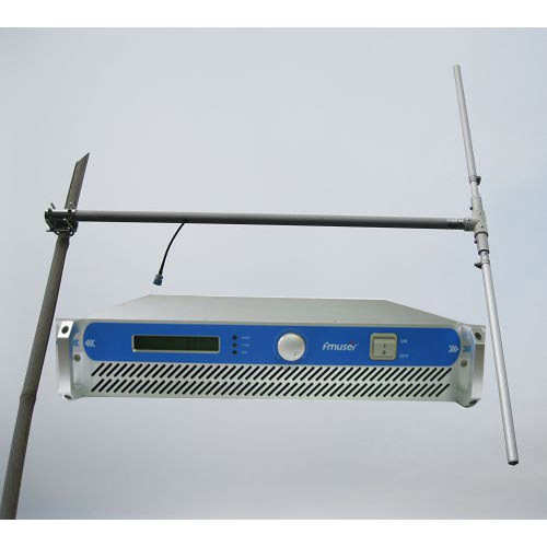 150W Professional FM Broadcast Radio Transmitter  + 1/2 wave dipole antenna + 20 meters cable with connectors complete Set