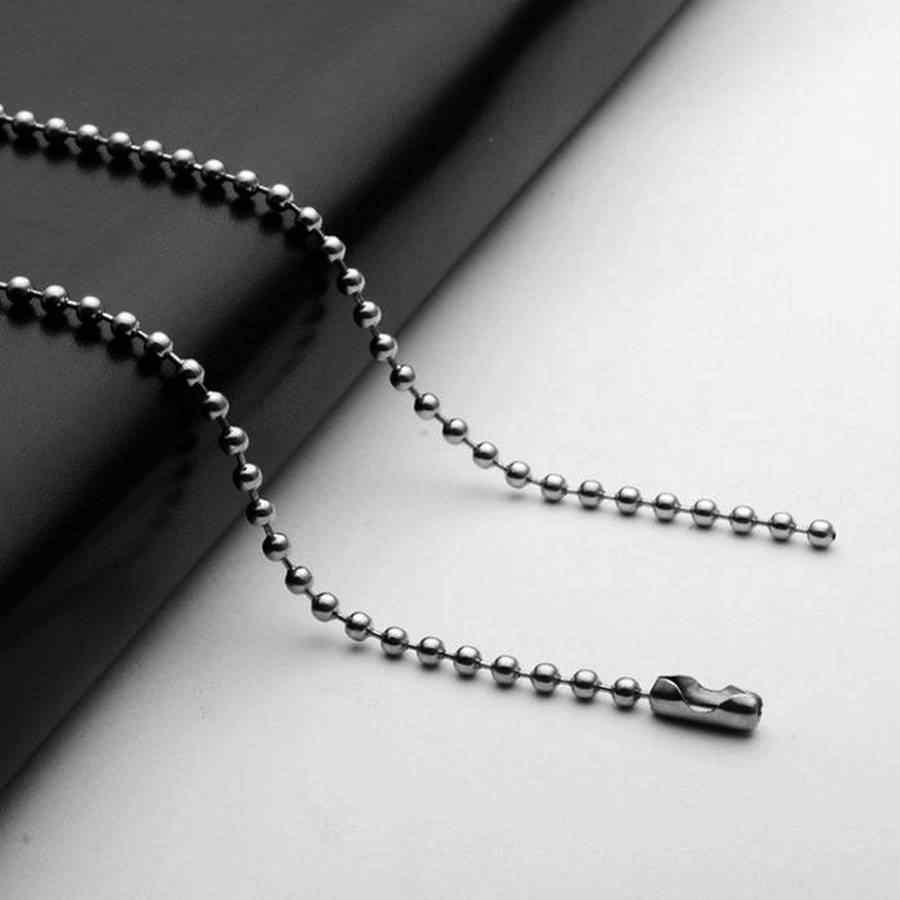 2 adet/grup 2mm Paslanmaz Çelik Gümüş Top Boncuk Zincir Erkekler Kolye Bilezik Anahtarlık Biblo Köpek Etiketi Takı Yapma Aksesuarları