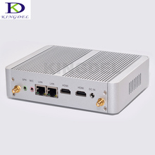 Kingdel Большое Содействие Безвентиляторный Mini PC Настольный Компьютер, Intel Celeron N3150 Quad Core/Celeron N3050 Двухъядерный, 2 * HDMI + 2 * LAN, Wi-Fi