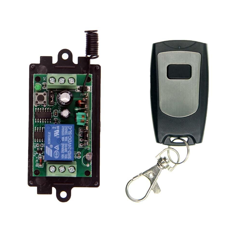 DC 9V 12V 24V 1 CH 1CH RF Wireless Remote Control Switch System,315/433 MHZ WaterProof Transmitter + Receiver dc 12v 1 ch switch 1ch rf wireless remote control switch system 315 433 mhz 2 transmitter and 1 receiver