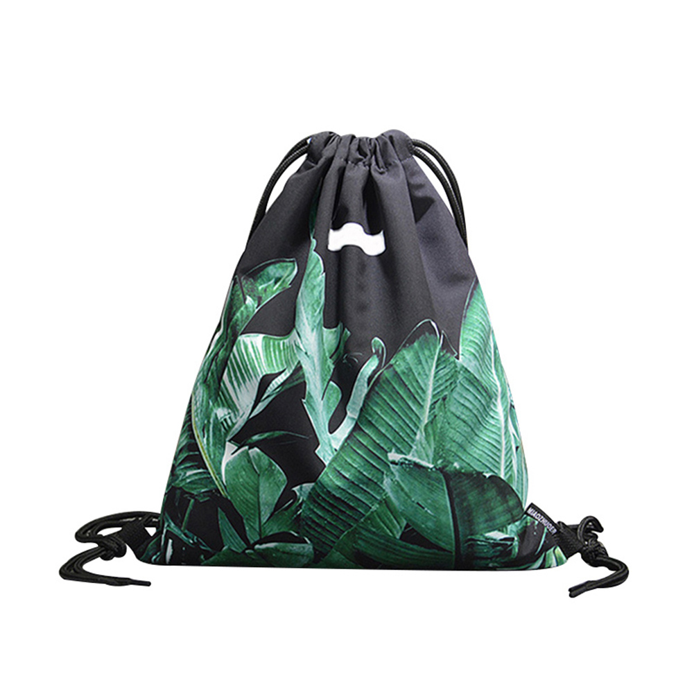 Drawstring Backpack Women Lightweight Fitness Travel Bag Tropical Plants Printed Cloth Bags Best Sale- LXX9Drawstring Backpack Women Lightweight Fitness Travel Bag Tropical Plants Printed Cloth Bags Best Sale- LXX9