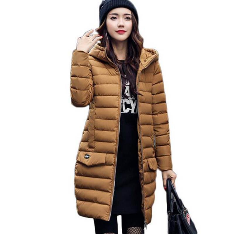 Women Winter Jacket 2017 New Fashion Thick Padded-cotton Hooded Slim Warm Woman Coat Female Jackets Parka Mujer Plus size jacket winter jacket women 2017 new parkas fashion slim long cotton padded coat warm hooded female thick jacket plus size outerwear
