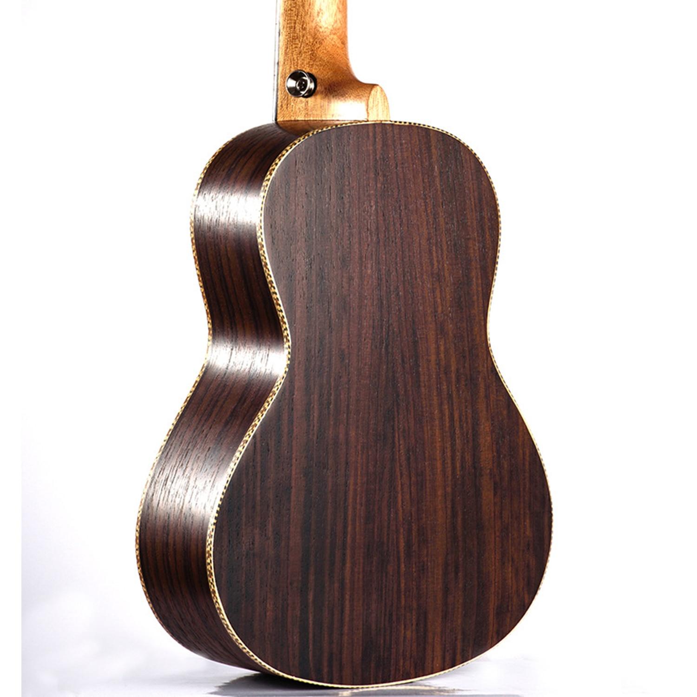 Guitare de voyage ukulélé électrique acoustique ténor de Concert de 23 pouces 4 cordes Guitarra bois acajou Plug-in musique Inst ukelele - 3