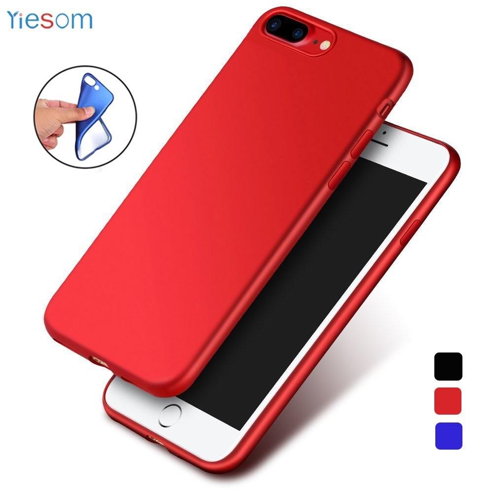 Soft Matte TPU Pouzdro pro iPhone X 8 7 6 6S Plus Zadní Kryt Silikon Pouzdra pro iPhone 5 5S SE Ultra tenký Ochranný Pouzdro pro Telefon