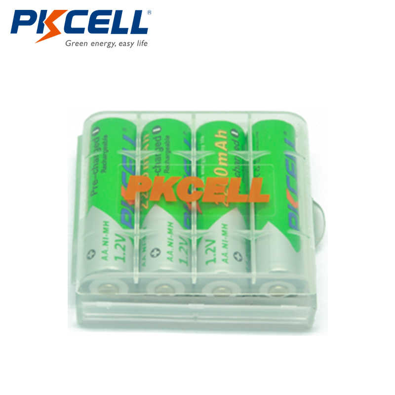 12 X PKCELL батарейка АА Ni-MH 1,2 V 2200 mAh Низкая саморазряд AA аккумуляторные батареи с 3 шт батарейный отсек
