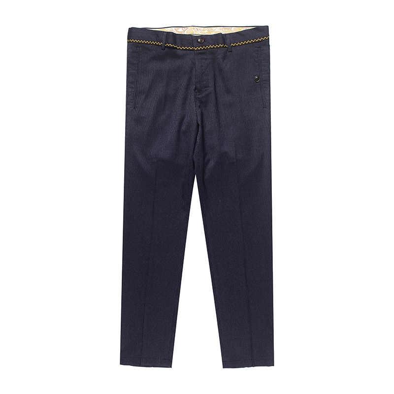 2017 Мужские штаны Мода Повседневная Slim Fit Straight платье мужской формальный деловой