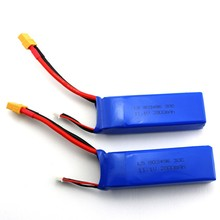 2 unids 11.1 v 2800 mah 3 s batería para wltoys v303 xk x350 cheerson cx-20 rc drone quadcopter cx20 piezas de repuesto