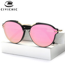CIVICHIC New Fashion Women Coating Sunglasses Retro Mirror Glasses Men UV400 Oculos De Sol Street Snap Gafas Outdoor Specs E266