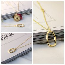 Fashion S925 sterling silver irregular necklace Platinum 14K gold ladies necklace Korean jewelry Girls Women Gift цены