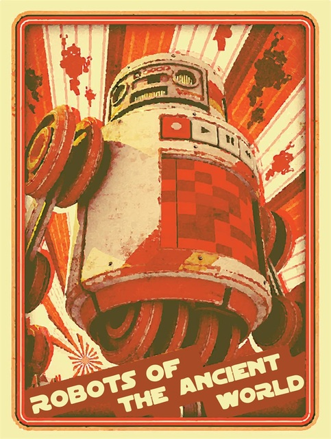 Sci Fi Robot Of Ancient World Classic Vintage Retro Kraft Poster Decorative DIY Wall Canvas