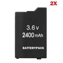 2pcs 3.6V 2400mAh Rechargeable Battery For Sony PSP2000 PSP 2000 PSP 3000 PSP2000 PSP3000 PlayStation Replacement batteries