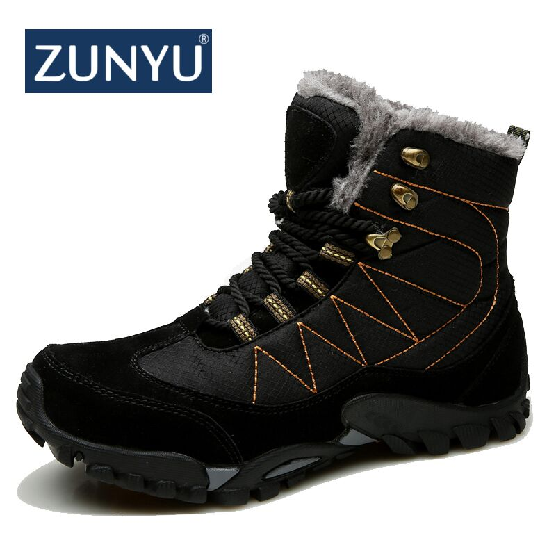 ZUNYU New Men Fashion Waterproof Snow Boots 2018 Outdoor Sneakers Winter Snow Boots keep Warm Boots Plush Ankle Snow Work Shoes цена