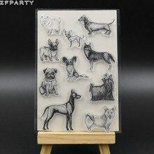 ZFPARTY милые домашние собаки прозрачный силиконовый штамп/печать для скрапбукинга/фото декоративная открытка для альбома