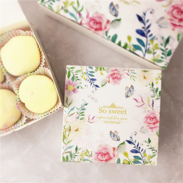 Packaging For Macarons 20pcs floral printed gift paper box carton caixa packaging for 20pcs floral printed gift paper box carton caixa packaging for cookie macarons box wedding favors candy sisterspd