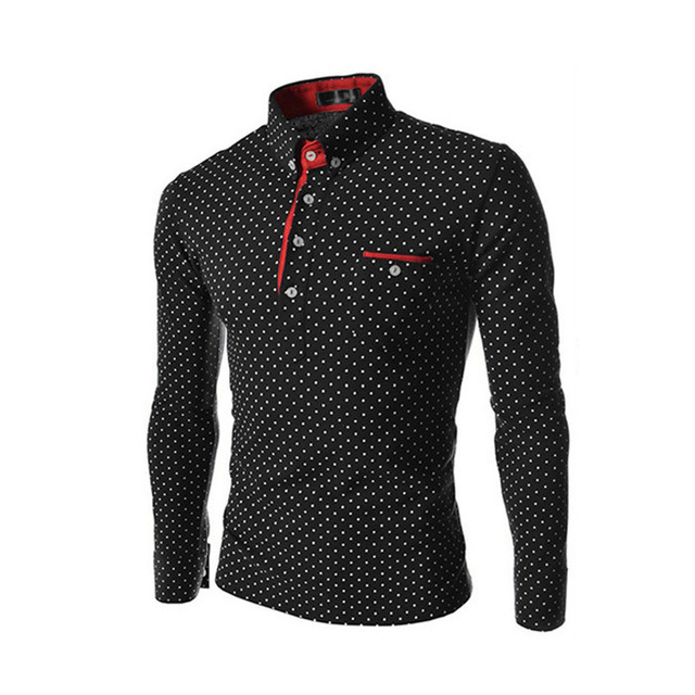 2017 Spring Hot Sale Fashion Summer Style Identify Polka Dot Casual Polos Men,Casual Fitness Three Color Men Polo Shirts M-XXL
