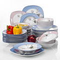 VEWEET DEBBIE 48 шт белые столовые приборы комби-набор фарфоровая посуда, комплект с миска для десерта Суповая тарелка