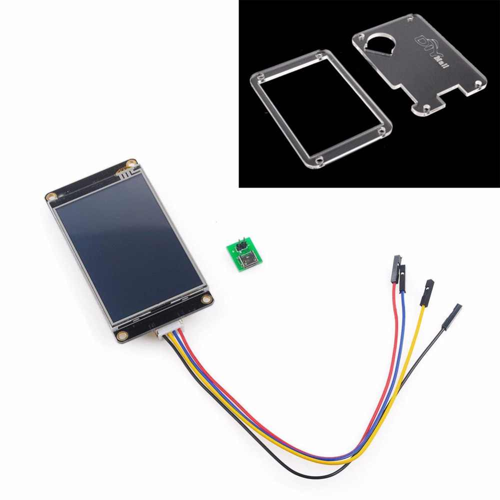 Nextion Enhanced 3 5 '' USART HMI Resistive Touch Display NX4832K035 /  Transparent Acrylica Case for Arduino Raspberry Pi FZ1753