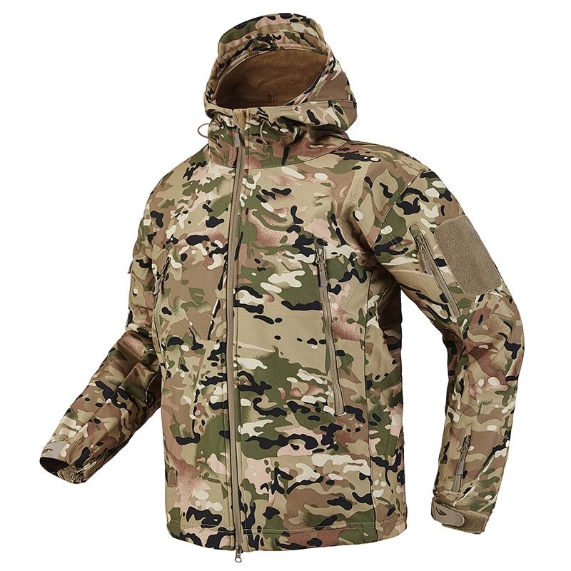 S.ARCHON Shark Skin Soft Shell Tactical Military Jacket Men Fleece Waterproof Army Clothing Multicam Camouflage Windbreakers Men 14