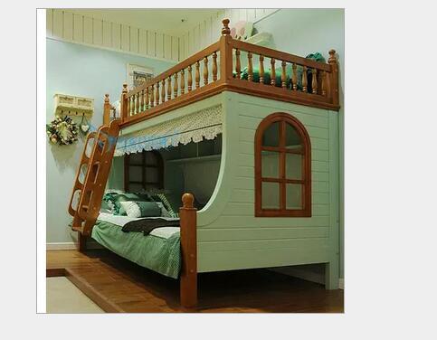 Camas literas de madera maciza cama para ni os altura for Literas de madera para ninos