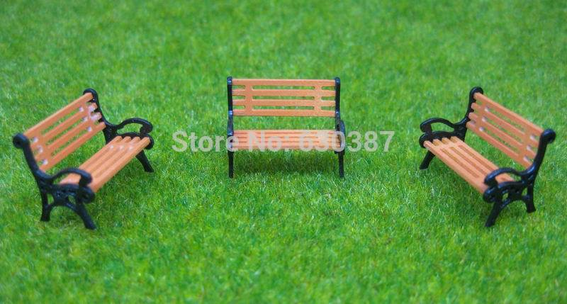 Tys38100 2 Sets Parasols Sun Loungers Deck Chair Bench Settee 1:100 Model Train Model Building Kits Toys & Hobbies