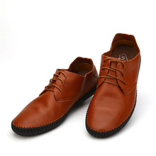 2016 Fashion Men Flats shoes genuine leather Shoes Men's casual Loafers Boat shoes 7158- 4