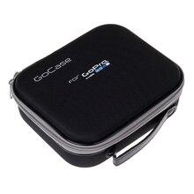 Средний Размеры видео коллекции сумка для хранения Портативный защитный противоударный GoCase для GoPro Hero 5 4 3 3 + SJCAM xiaomi Yi