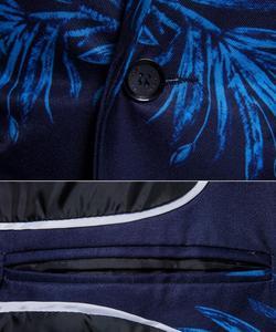 Image 5 - בליזר אופנה גברים מותג חדש פרחוני המודפס Slim Fit גברים בלייזר כפתור אחד וחליפה Masculino ליזר הלבשה עליונה מעיל מעיל