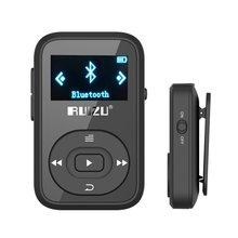 Ruizu X26 Спорт Bluetooth MP3 плеер рекордер FM радио Supprot SD карты клип Bluetooth MP3 плеер 8 ГБ