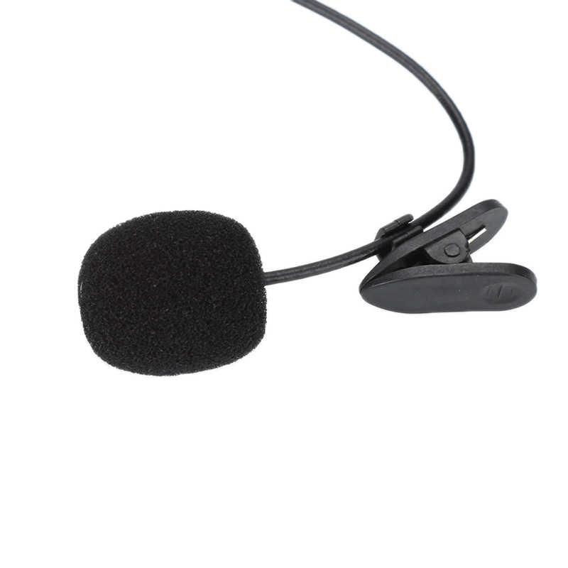 Uniwersalny przenośny Mini mikrofon zestaw słuchawkowy Lapel Lavalier klip 3.5mm mikrofon do nauczania mowy przewodnik konferencyjny Studio Mic