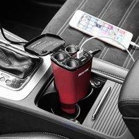 BESTEK Buchse Auto Zigarettenanzünder Usb-ladegerät 3 Splitter Power Adapter 4.2A Dual USB Led-strom Display Auto Ladegerät
