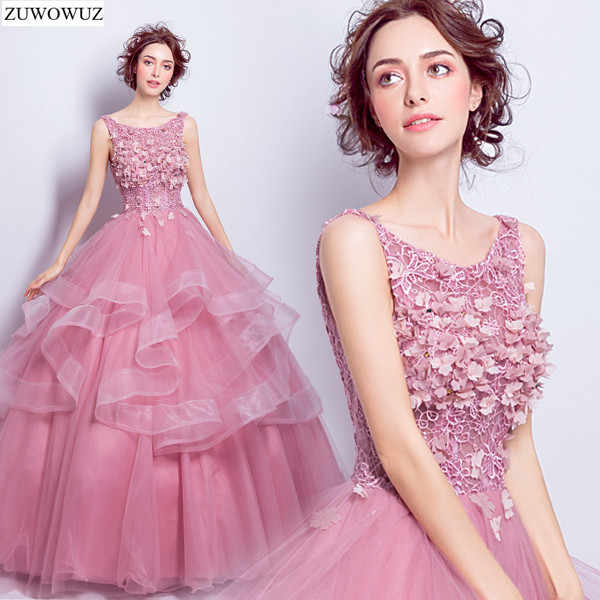 2017 new arrival stock maternity plus size bridal gown evening dress ball  gown long pink social d210d86d7687
