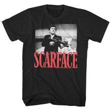 Scarface tony montana grandes armas pouco amigo t camisa masculina pacino gangster filme