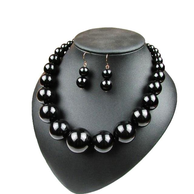Женское колье с жемчугом короткое ожерелье крупными бусинами