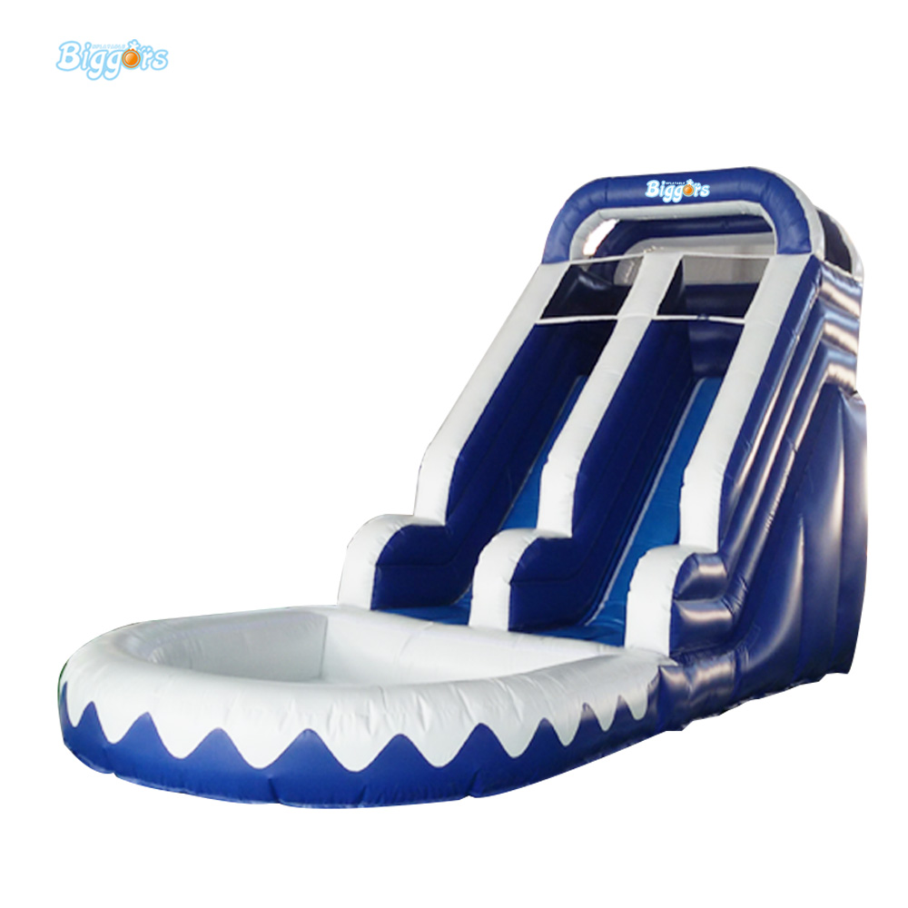 Inflatable Biggors Amusement Park Inflatable Slide With Pool For Adults