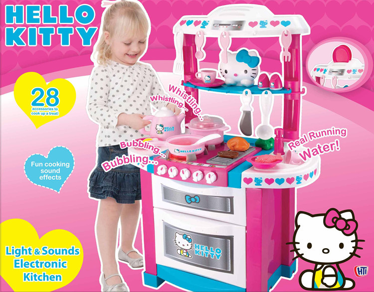 Free Shipping 2014 New Arrival Hello Kitty Children Kitchen Set