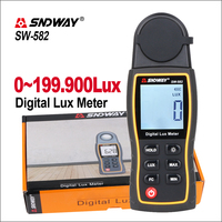 SNDWAY 디지털 Luxmeter 럭스/FC 미터 라이트 미터 사진 루미 노 미터 광도계 분광계 루미 노 미터 200000Lux SW-582