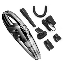 wireless rechargeable hand held household car dry and wet vacuum cleaner ultra quiet powerful mini vacuum cleaner 1 Set Wireless Car Vacuum Cleaner Dry & Wet Universal Dual-use Household Hand-held Vacuum Cleaner With Multiple Accessories