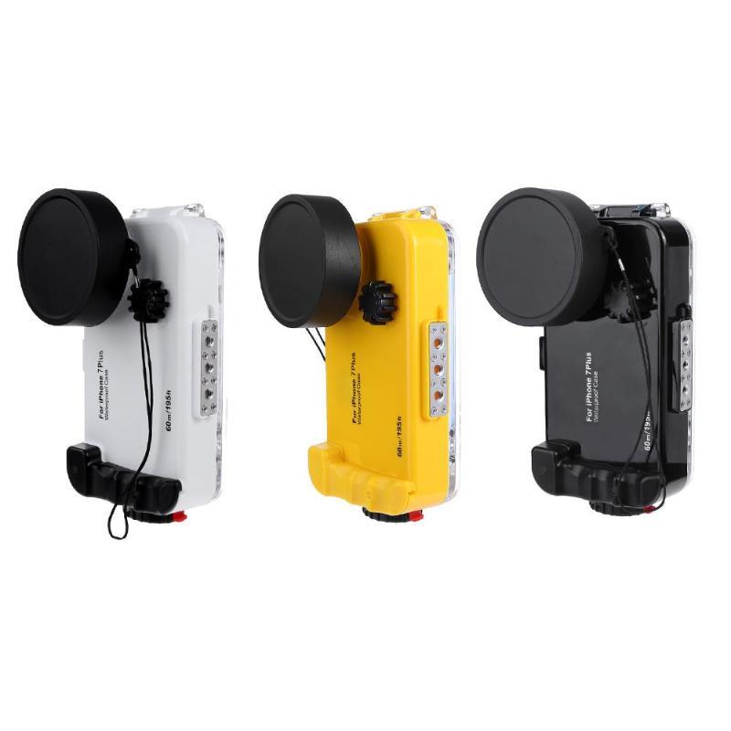 Étui pour iphone 7 étanche ALLOET IPX8 Plus 60 m/196FT couverture de téléphone portable de plongée sous-marine étui pour iphone 7 Plus Fisheye