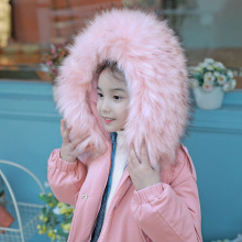 Children autumn winter thickening velvet cotton down jackets kids hooded warm parkas girls jacket