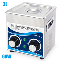 Ultrasonic Cleaner Bath 2L 60W 304 Stainless Steel Heating Washer 40khz 220V Cleaning Equipment Remove Oil Rust Wax Spark plug