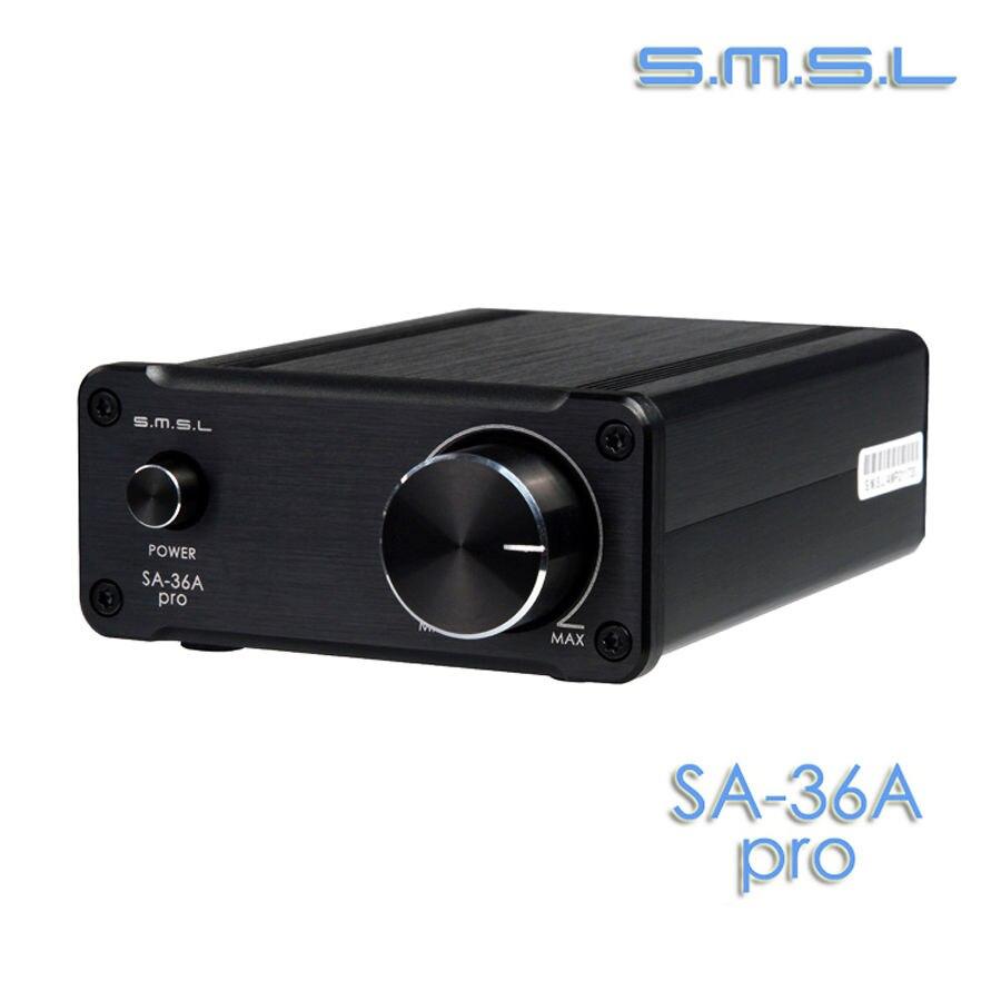 SMSL SA 36A Pro 30W 2 TDA7492PE Digital Power Amplifier Black color