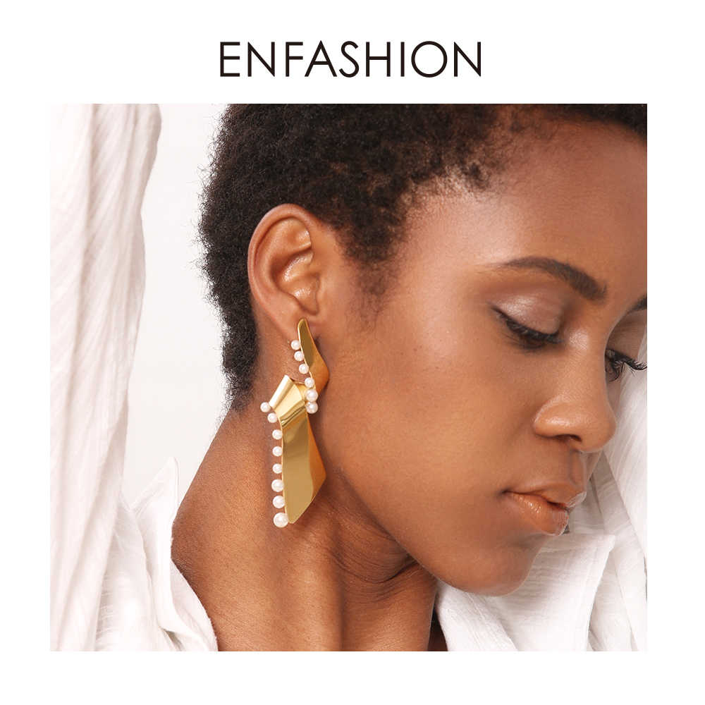 Enfashion Pearl Lacy Earrings For Women Fashion Jewelry Dangle Long Earring  Big Earings Boucle D'oreille Femme 2018 EFJ181057
