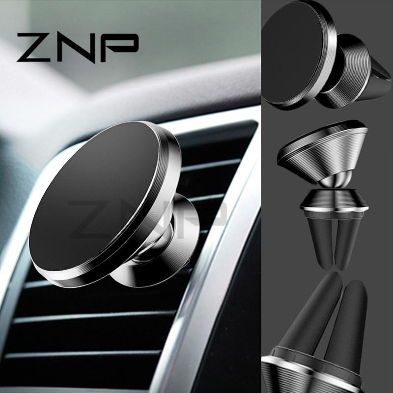 ZNP Universal Car Holder 360 Degree GPS Magnetic Mobile Phone Holder For iPhone X 8 7 6 For Samsung S8 Magnet Mount Holder Stand