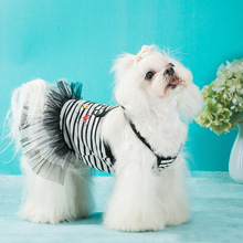 Summer Dog Dress Letter Print Sweety Princess Lace Dresses Party Pet Clothes Accessories Fashion