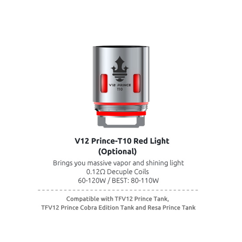 Original SMOK TFV12 Prince Coil V12 Prince RBA Q4 M4 X6 T10 Mesh Strip Core Fit for TFV12 PRINCE Tank Eletronic Cigarette Cores