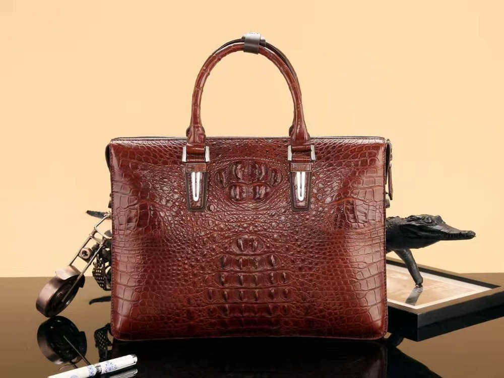 2018 fashion men s genuine real 100% crocodile skin briefcase laptop bag crocodile skin business men bag blue color 2016 Fashion Men's Genuine/Real 100% Crocodile Skin Briefcase Laptop Bag, Crocodile skin Business Men Bag Black/Brown/Coffe/red